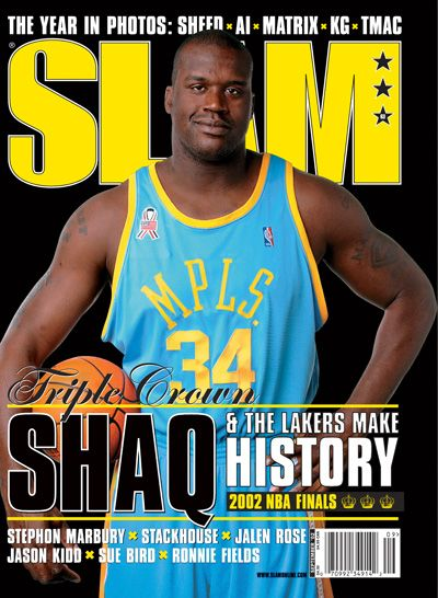 Shaquille O'Neal, Los Angeles Lakers. Slam Magazine.