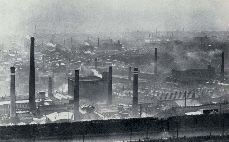 Photo of Mill Chimneys in Halifax, UK - for Kes Movie poster *Anthony Griffin 2834460