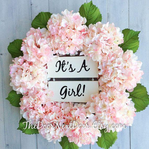 Its A Girl Wreath Baby Girl Wreath Baby by TheDoorNextDoor
