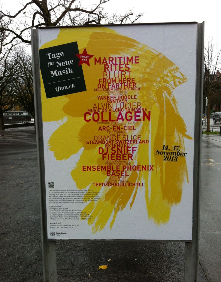 Poster for a festival in Zurich - Switzerland #Swiss #graphicdesign