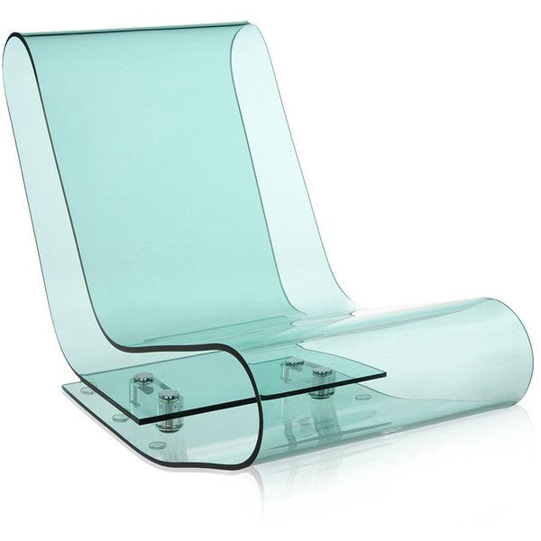 Kartell LCP Chair   Sky Blue Found On Polyvore