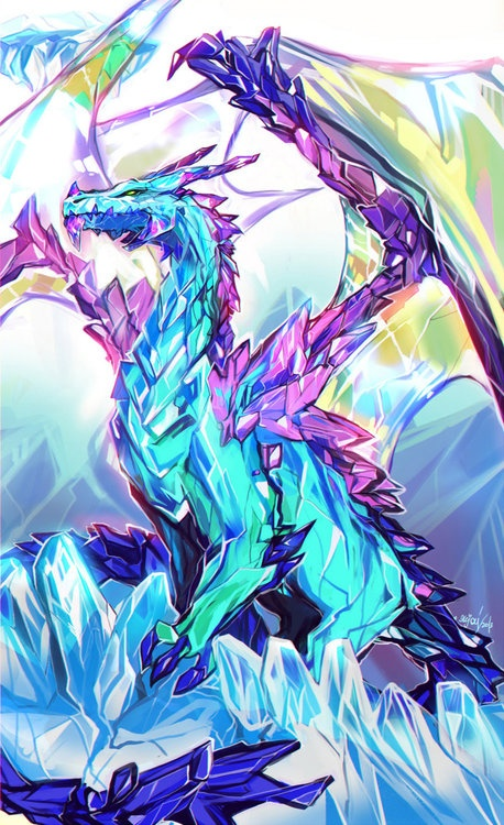 This picture was taken by heat sense.These dragons blend so well into their crystal surly dings that they cannot be seen by the naked eye.