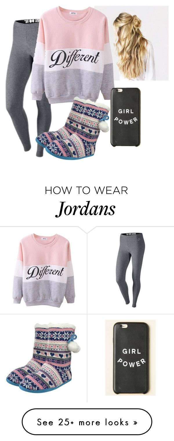 """""""Jordan wants Netflix!"""" by marley-downey on Polyvore featuring NIKE, women's clothing, women, female, woman, misses and juniors"""