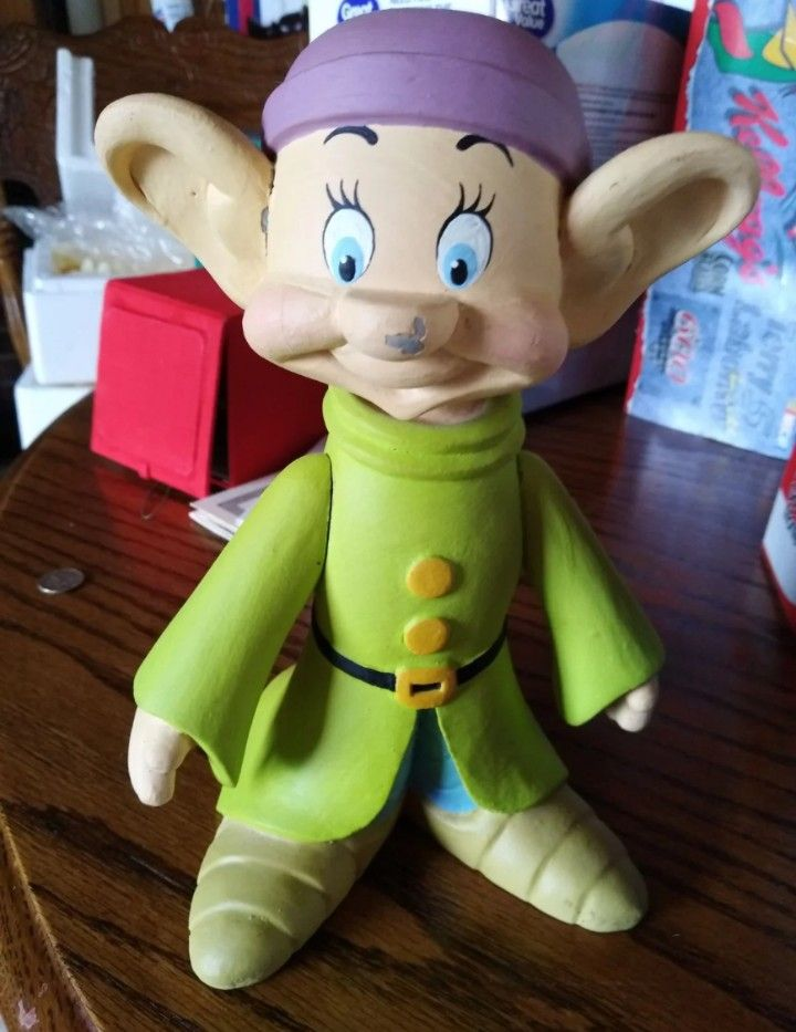 Disney Dopey Rare Limited Edition Wood Figure Snow White And The