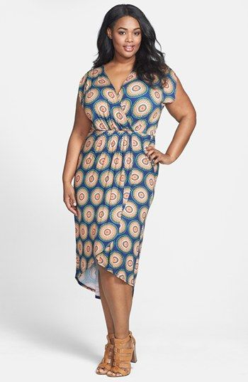 Loveappella Print High/Low Dress (Plus Size) available at #Nordstrom