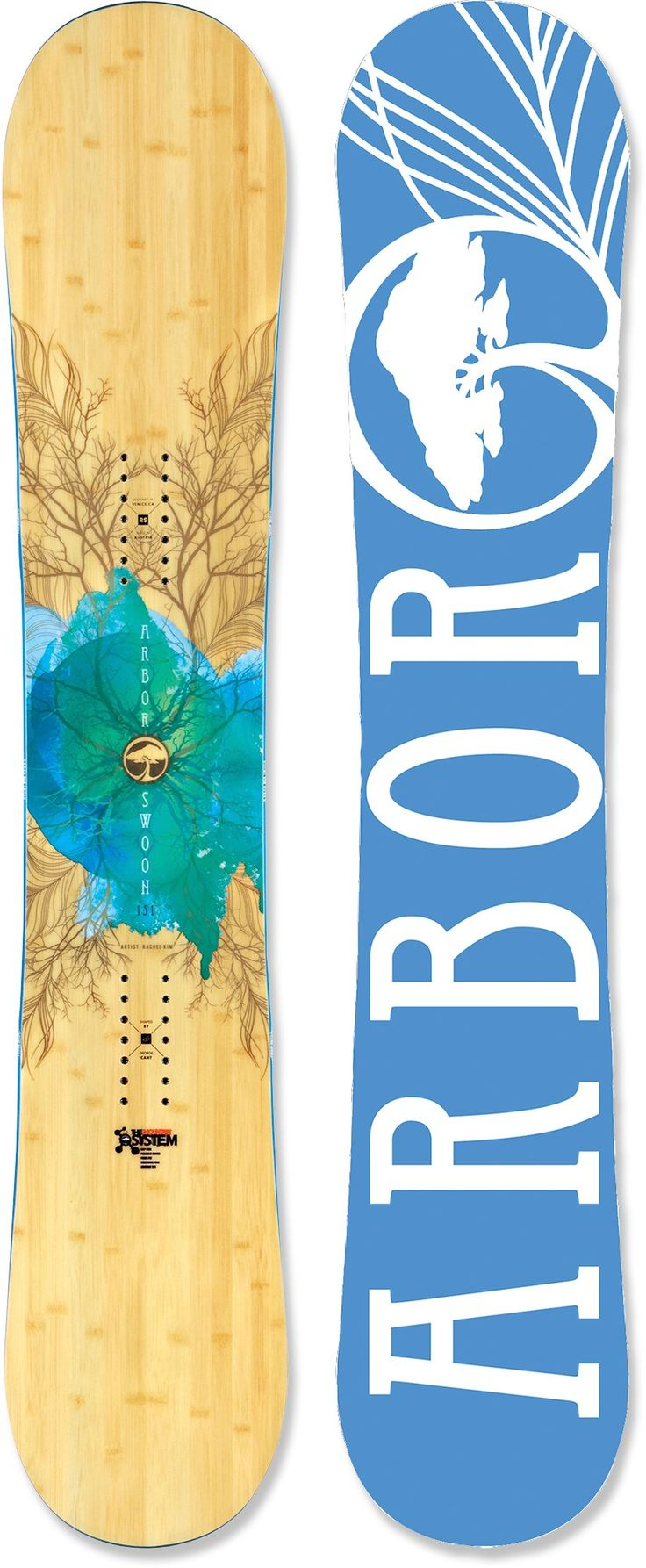 Arbor Swoon Snowboard - Women's - 2012/2013 at REI.com - if they had this in purple I would kill to have it!