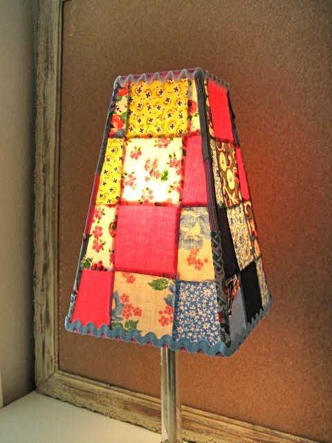 22 best Patchwork lampshades images on Pinterest | Lamp shades ...