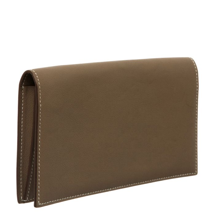 Hermès Swift Leather Citizen Twill Long Wallet - Affordable Luxury