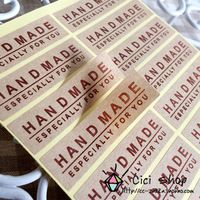 FREE SHIPPING kraft paper hand made stickers sticker label  gift tags	  5.5cm*1.5cm