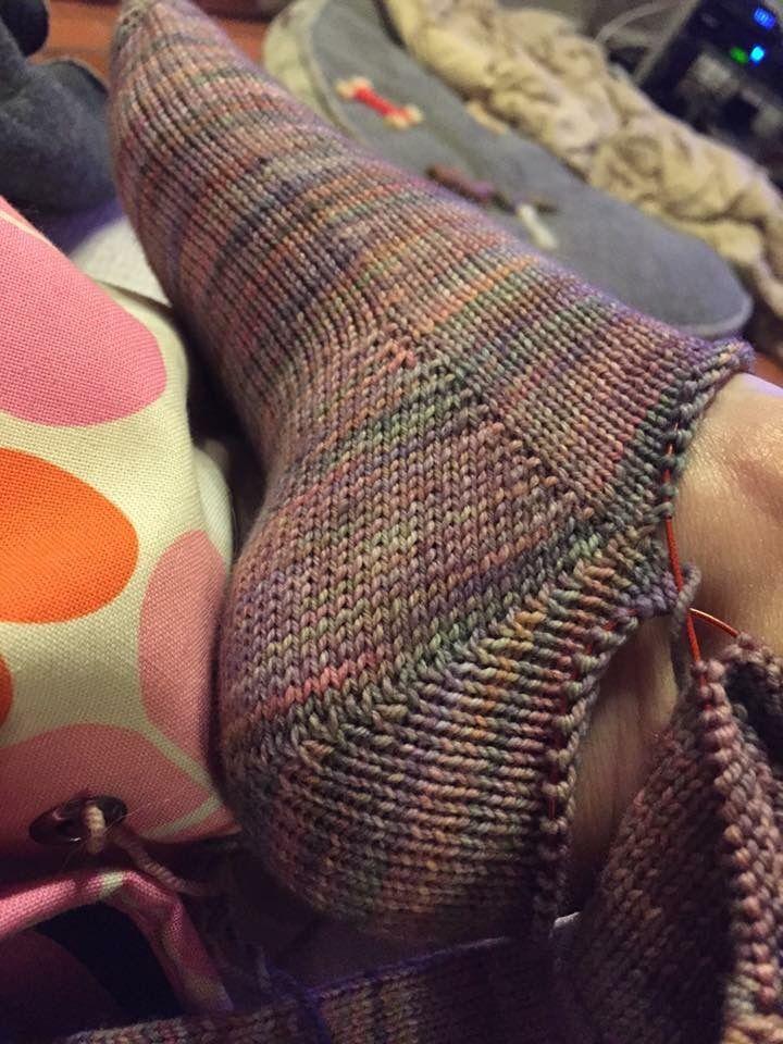 Fleshless Heel in Toe up Socks
