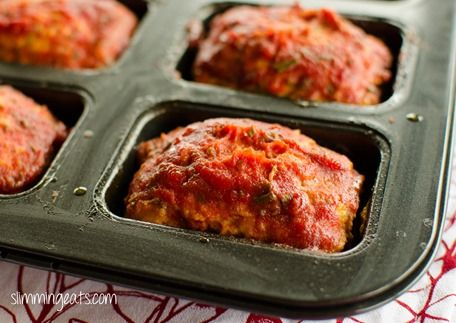 Slimming Eats Mini Chicken Meatloaves - gluten free, dairy free, paleo, Slimming World (SP) and Weight Watchers friendly