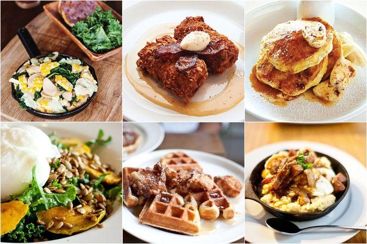 Clockwise from top left: Goofy Cafe, Koko Head Cafe, Bills Sydney, Scratch Kitchen, Nook, Tucker and Bevvy Breakfast