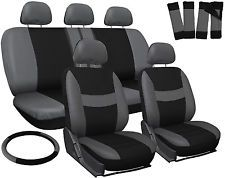 [$21.95 save 76%] Car Seat Covers Gray Black 17pc Set for Auto w/Steering Wheel/Belt Pad/Head Rest #LavaHot http://www.lavahotdeals.com/us/cheap/car-seat-covers-gray-black-17pc-set-auto/186079?utm_source=pinterest&utm_medium=rss&utm_campaign=at_lavahotdealsus