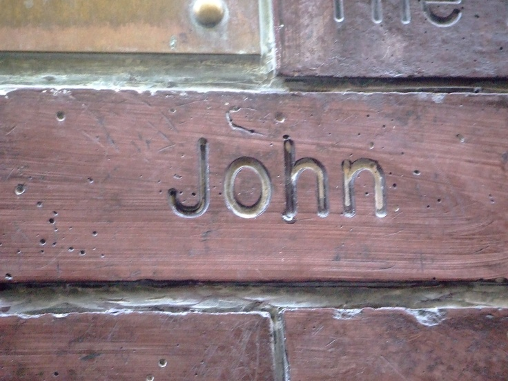 John Lennon's Brick on the Cavern Wall of Fame in Mathew Street, Liverpool City Centre...  http://johnlennononline.blogspot.com
