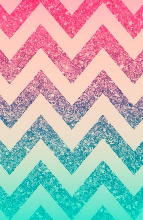 Ombré sparkle chevron wallpaper created by Sydney Cook: