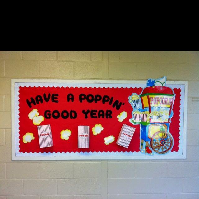 Have A Poppin' Good Year Popcorn Bulletin Board