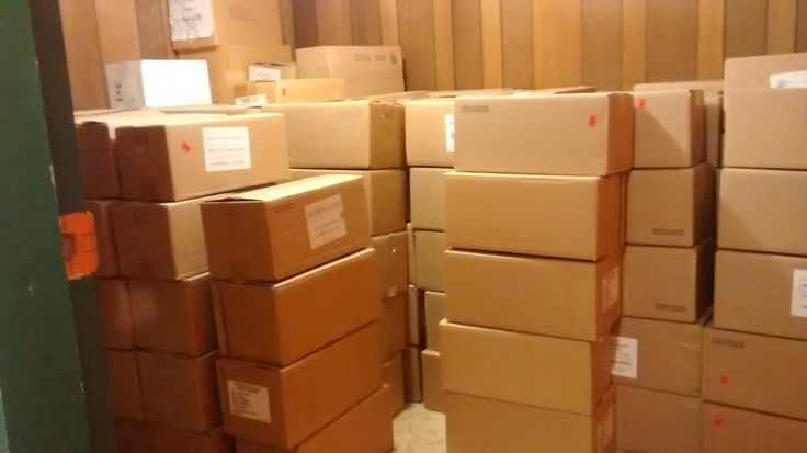 Remaindered books from first edition print run arrive safely at Angela's basement. Aug 2016