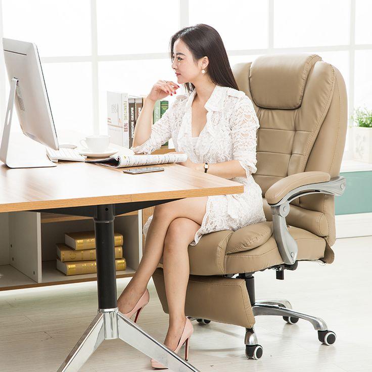 Hot jual murah hati YIRUITE liftable boss kursi komputer kursi kantor putar dengan bagian kaki 4 warna opsional