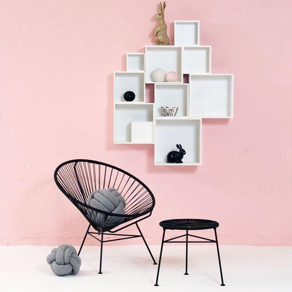 Black Centro stool by OK Design.