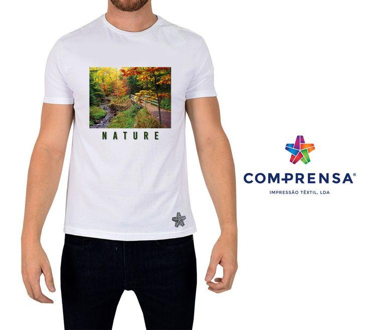 "White Com-Prensa t-shirt with the print "" Forest ""  #comprensa #model #fashion #manufacturer #design #company #textile #portugal #jersey #fleece #cotton #bio #sublimation #screenprinting #digitalprint #laser #photoprint"