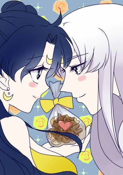 Sailor moon Human Luna and Artemis with Chibiusa | Sailor Moon ...