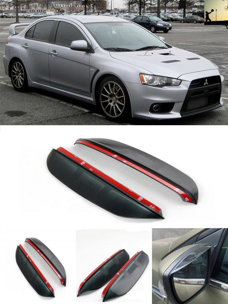 [Visit to Buy] FOR Mitsubishi Lancer Evolution Evolution X From 2007 to 2016 rearview mirror rain eyebrow Rainproof Flexible Blade Car Styling #Advertisement