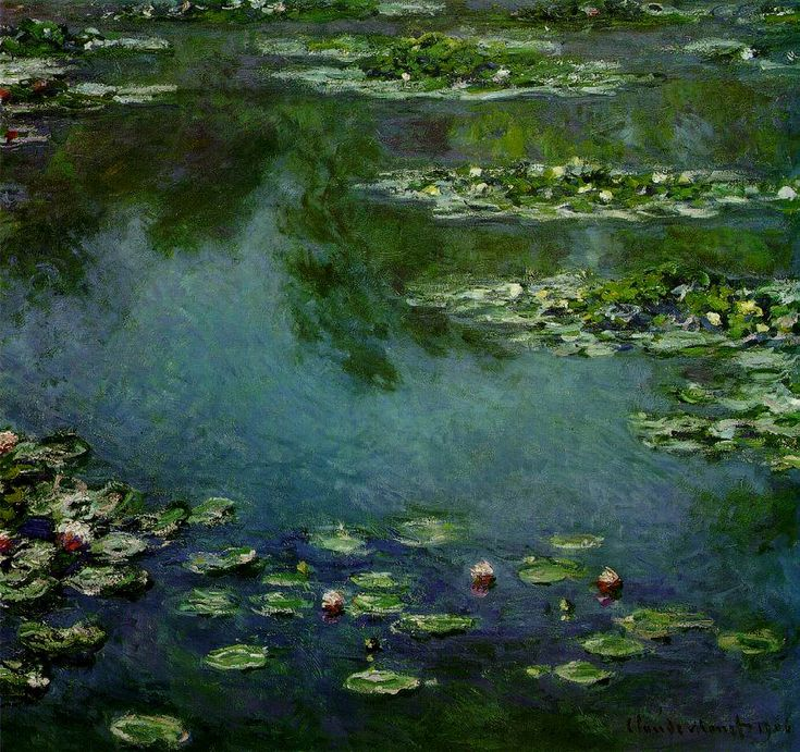 "water lilies monet | Artinvest2000 : Monet Claude : ""Water Lilies"" 1906; Oil on canvas, 87 ..."
