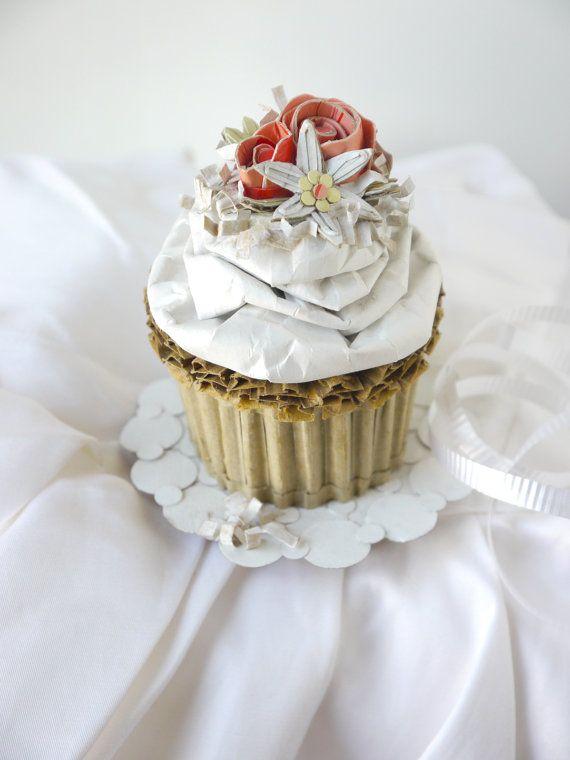 Spring Wedding Cupcake With Flowers And Coconut by artonthemenu, $65.00