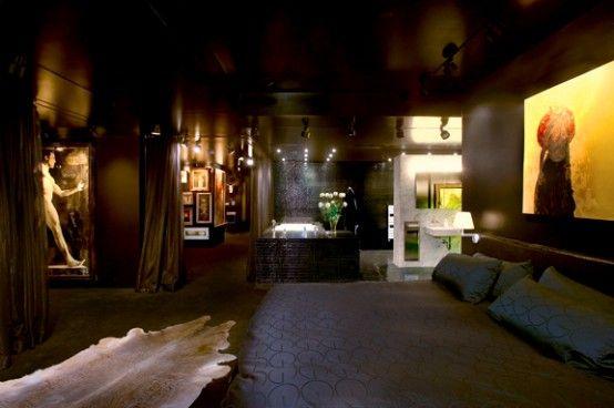 Almost Entirely Black Apartment Design | Interior Design
