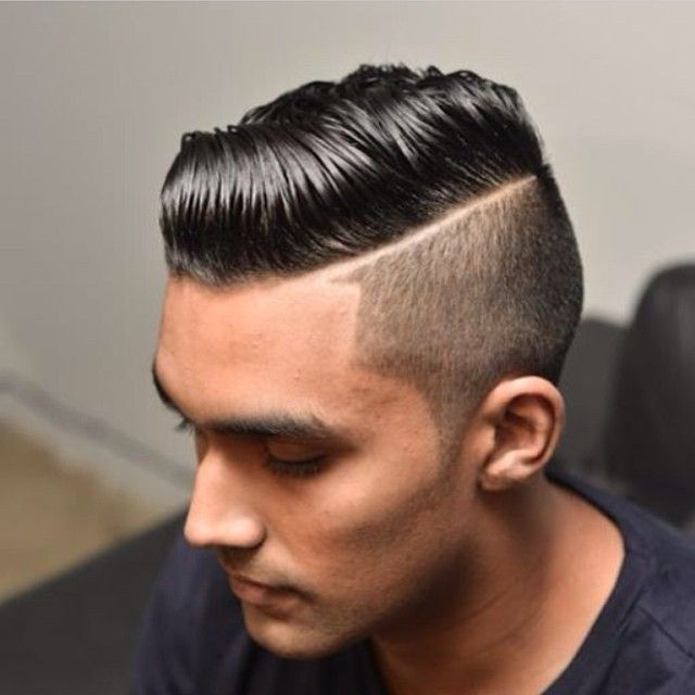 hard part undercut comb over with great hair comes