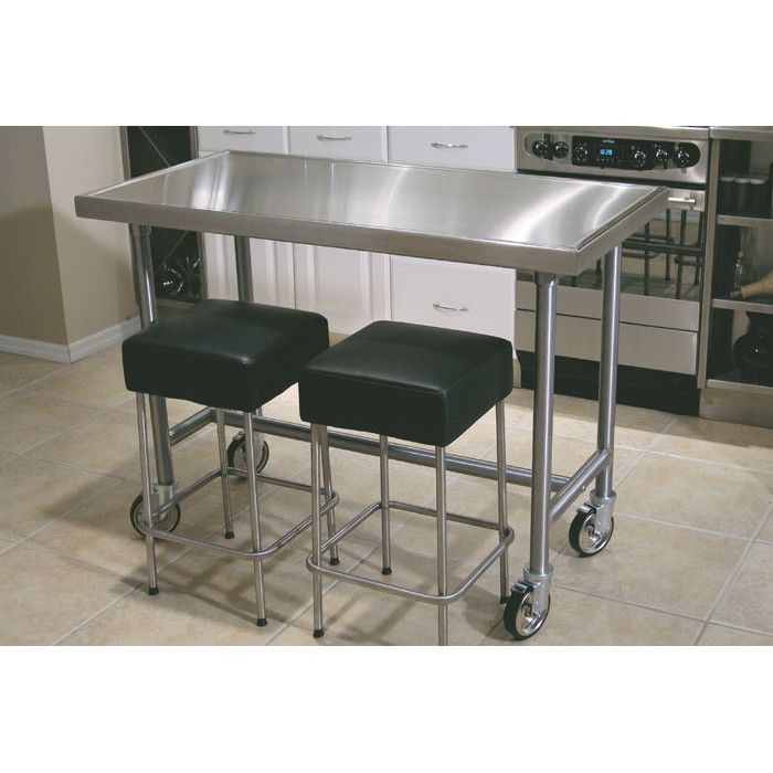 Aline By Advance Tabco Chefu0027s Prep Table With Stainless Steel Top.