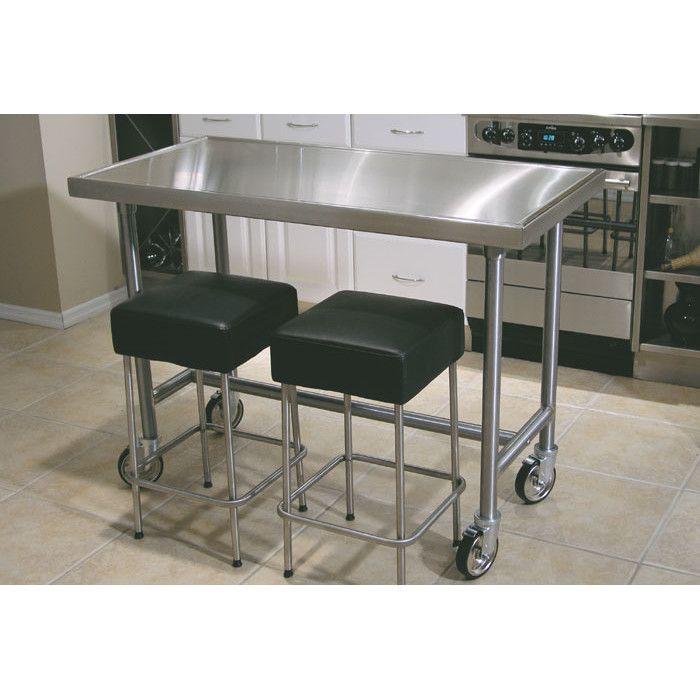 Kitchen Island Table On Wheels: Best 20+ Stainless Steel Prep Table Ideas On Pinterest