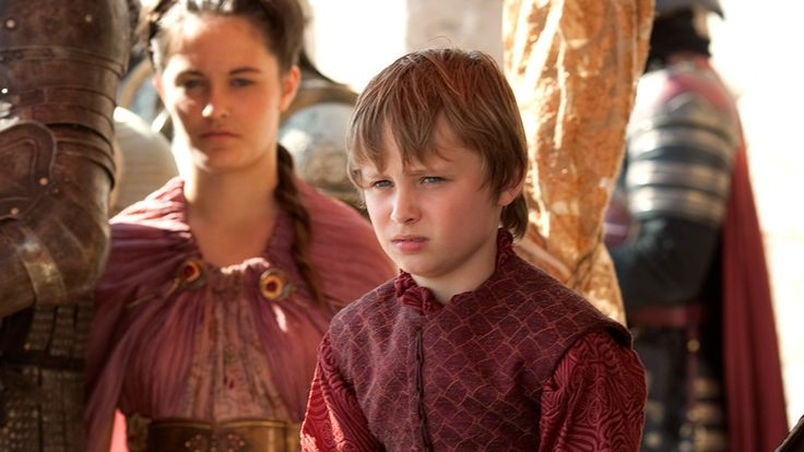 King Tommen Baratheon, the First of his Name, is known to the realm as the youngest child of King Robert and Queen Cersei Lannister, though his father is in truth Cersei's brother Jaime. He is crowned King following the death of his brother Joffrey at the feast following Joffrey's wedding to Margaery Tyrell and later marries Margaery in Joffrey's place. Due to his young age and meek, tractable personality, actual governance of the realm falls to his mother, the Queen Regent.