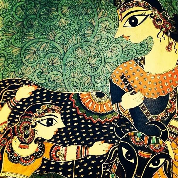 Madhubani painting, Indian folk art by Bharti Dayal