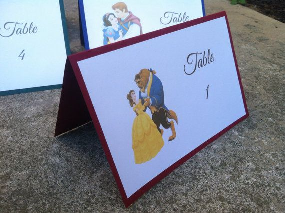Disney wedding table number - perfect for a Disney themed wedding http://www.toptableplanner.com/blog/disney-themed-wedding-seating-plans