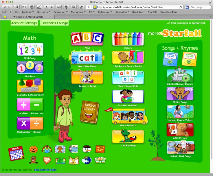 Starfall Math   More Starfall, a great learning web site for chrildren