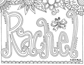 Custom coloring pages neat for the first days of school for Coloring pages names