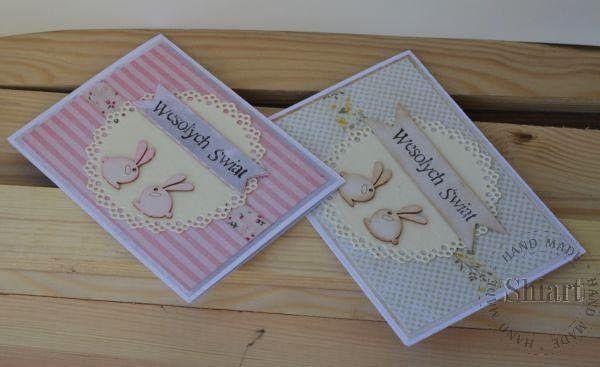 Kartki z zajączkami