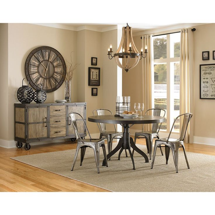 Superb Dining Room Sets Baton Rouge Part - 14: Magnussen Walton Round Dining Set With Stovall Chairs, Grey