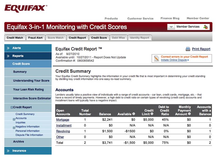 Equifax Credit: Sample Equifax Credit Bureau Report - credit report template