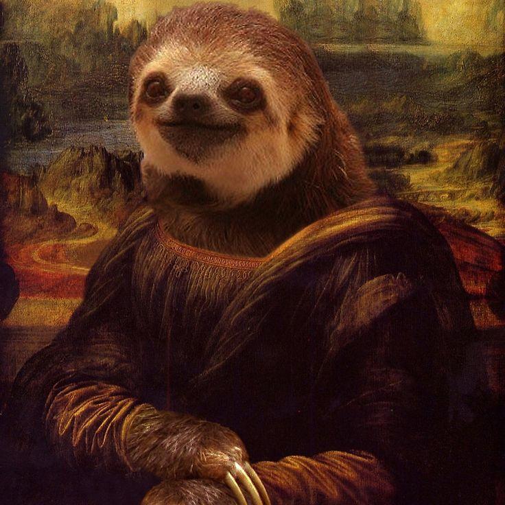 Sloth Mona Lisa