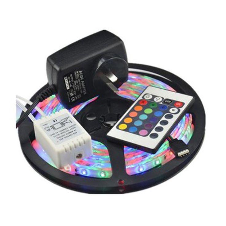 Cheap Impermeable 3528 RGB LED luz Flexible los 60 LED / M 5 M 300 LED SMD DC 12 V fuente de alimentación + IR teledirigido ¡ envío gratuito, Compro Calidad Tiras de LED directamente de los surtidores de China: Impermeable 3528 RGB LED luz Flexible los 60 LED / M 5 M 300 LED SMD DC 12 V fuente de alimentación + IR teledirigido ¡ envío gratuito