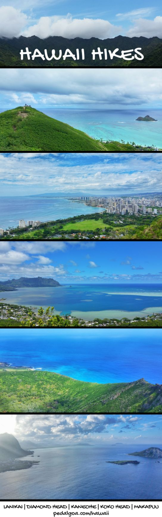 Best Oahu hikes: US hiking trails in Hawaii, tons of hikes on Oahu to choose on Hawaii vacation! Doing best hiking trails on Oahu also gives you other things to do with nearby beaches for swimming, snorkeling, and to see turtles! List of planning tips for when in Waikiki or Honolulu and take the bus or with a rental car to other trails. Outdoor travel destinations for bucket list for budget adventures! Put outfits on list of what to pack, what to wear for Hawaii packing list... #hawaii #oahu