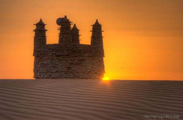 The ancient mosque of Chinguetti – the one out in the desert....Mauritania