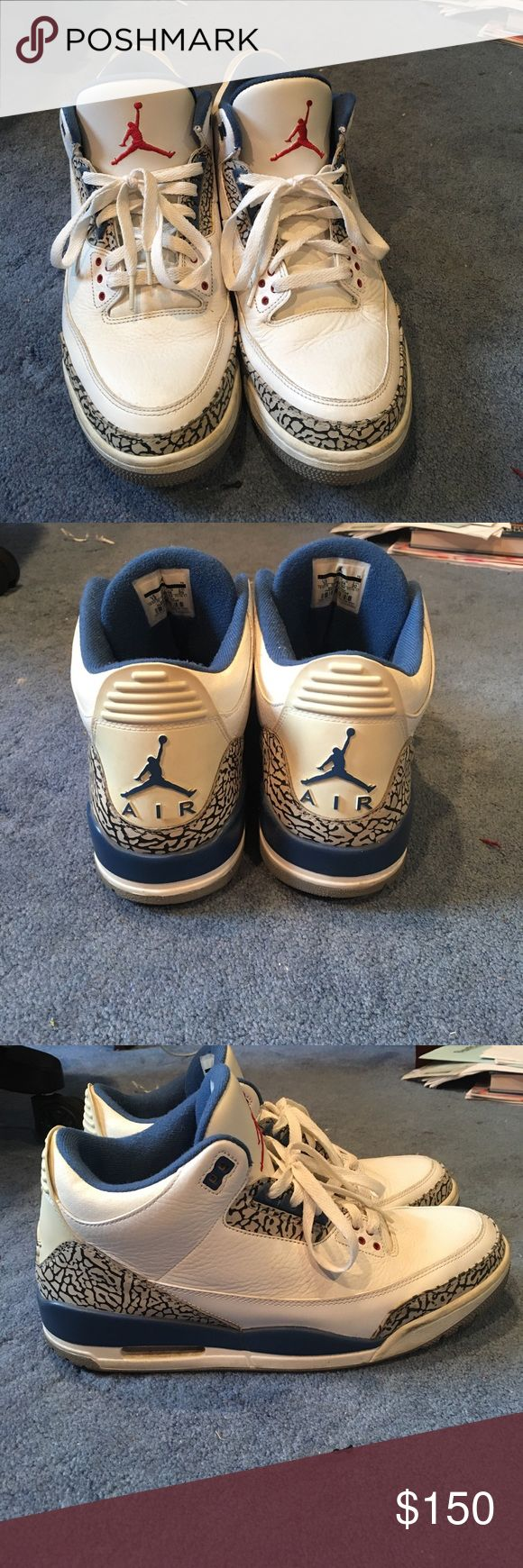 Jordan True Blue 3s. Bought these from flight club in Manhattan,NY. Worn three times still in great condition. 100% authentic and price is negotiable. Jordan Shoes Sneakers