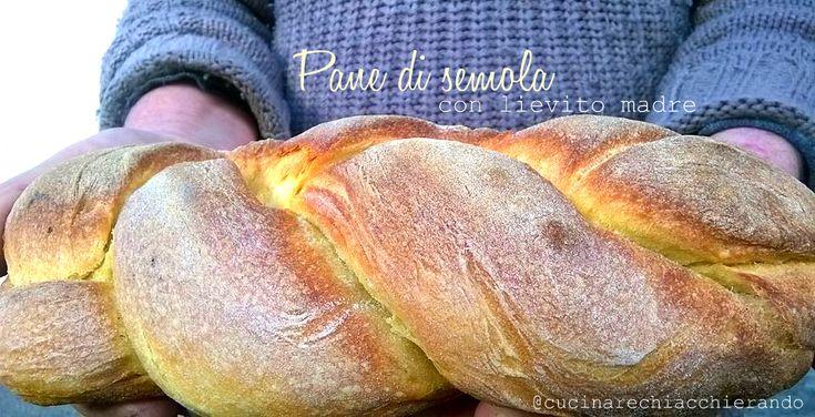 Questo pane di grano duro è come quello che facevano le nostre nonne,un pane consistente, con lievito madre, che regala profumi eccezionali ad ogni morso.