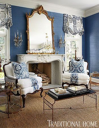 Lovely blue and white living room with French bergere chairs   black  Chinoiserie cocktail table  Best 25  Living room blinds ideas on Pinterest   Blinds  Neutral  . Living Room Shades. Home Design Ideas