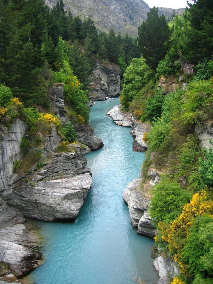 Shotover Rivier, Otago, Zuidereiland, Nieuw-Zeeland