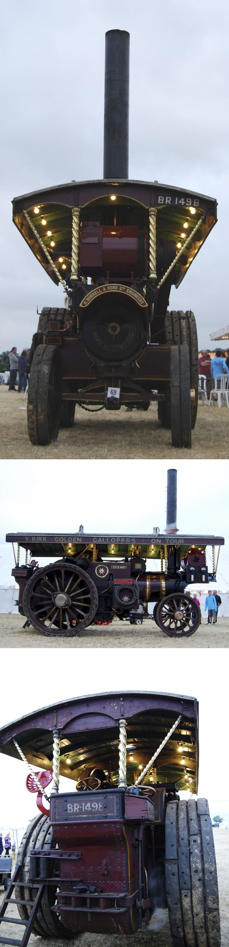 Burrell 8NHP DCC 'Queen Mary' Works No. 3833. Built 1920. Reg No. BR 1498 | The 'Queen Mary' was bequeathed to the Charles Burrell Museum, Thetford by the late Viv Kirk | Seen here at the 2013 Weeting Steam Engine Rally & Country Show.