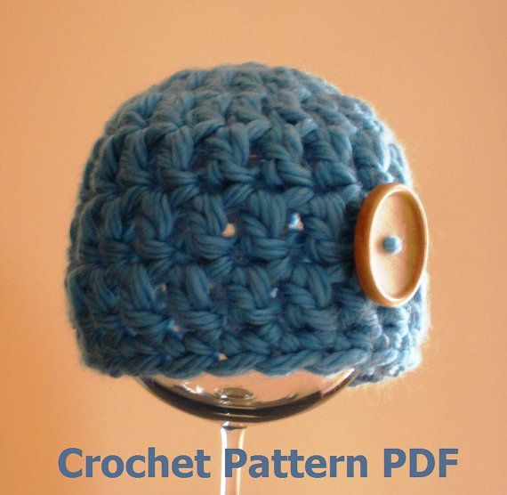 Chunky Baby Beanie Hat Crochet Pattern PDF 207 INSTANT by ...